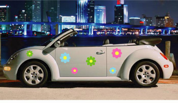 Flower Car Sticker Kit 2 - suits any car