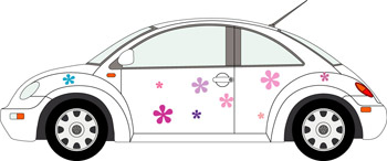 Flower Car Sticker Kit - suits any car